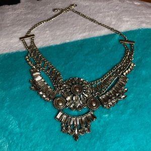 diamonds boho statement necklace